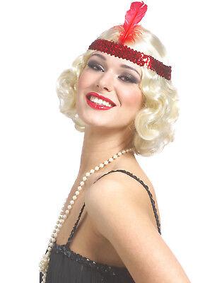 585mS Jazzy Flapper Great Gatsby Blond Sexy Finger Welle Damen Halloween Perücke