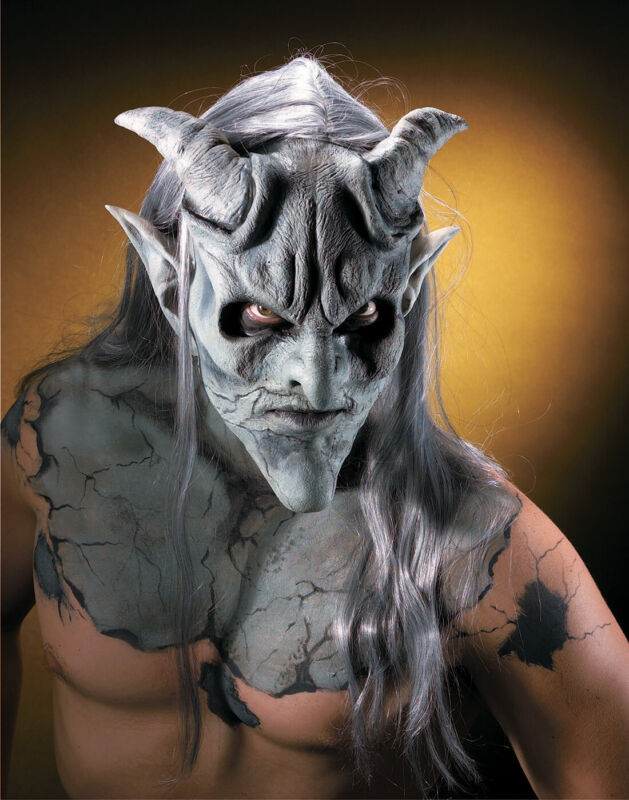 Latex Prosthetic Gargoyle Demon Monster Makeup Kit-Reel F/X