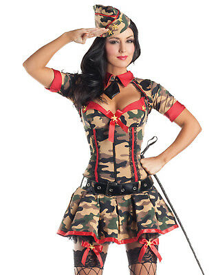 Army Brat Body Shaper Sexy Fancy Dress Hens Party Womens Halloween Costume