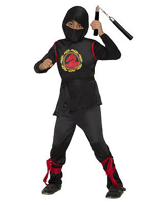 Dragon Ninja Warrior Assassin Boys Child Halloween Costume - Ninja Costumes Kids