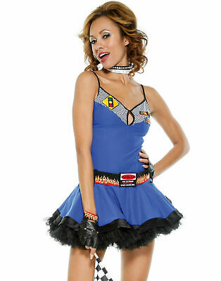 Race Girl Costume (Forplay Fast Lane Sexy Racer Girl Costume Showgirl Racing Cosplay USA NEW All)