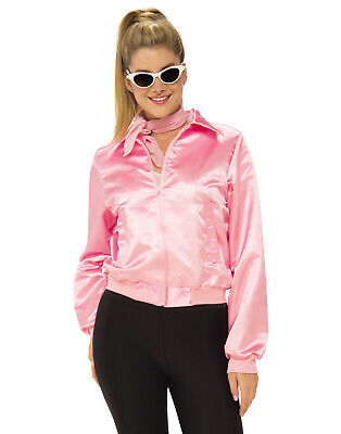 Grease Women 1950'S Pink Ladies Adult Frenchie Rizzo Costume Jacket (Frenchie Costume Grease)