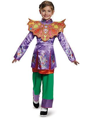 t Glas Wunderland Asiatisch Look Mädchen Klassisch Kostüm (Klassische Alice Im Wunderland Kostüm)