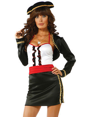 Matador Bulls Eye Sexy Spanish Lolita Pinup Dress Womens Halloween Costume