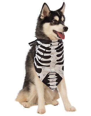 Skelett Knochen Gerippt Käfig Haustier Hund Katze Halloween Bandana - Skelett Hunde Kostüm