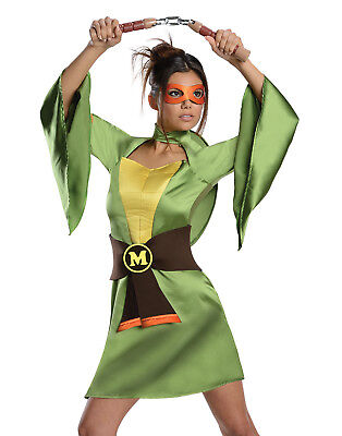 Teenage Mutant Ninja Turtles Sexy Michelangelo Damen Halloween - Turtle Kostüme