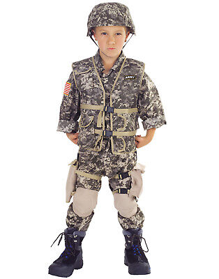 Army Ranger Boys Childs Deluxe Military Halloween Costume (Army Halloween Costumes For Boys)