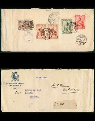 Mayfairstamps Peru 1935 Certified to Germany Airmail Cover wwo89561