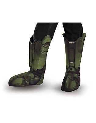 Master Chief Halo Spartaner Soldaten Erwachsene Stiefel Abdeckung Kostüm - Halo Soldaten Kostüm