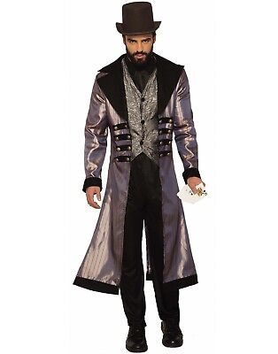 Badlands Gambler Mens Adult Gothic Western Bandit Halloween Costume-Std](Halloween Bandit Costume)