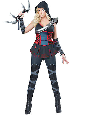Dark Dragon Ninja Womens Japanese Warrior Halloween Costume