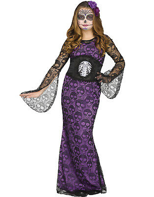 La Muerte Girls Day Of The Dead Mistress Halloween Costume](La Muerte Halloween Costume)