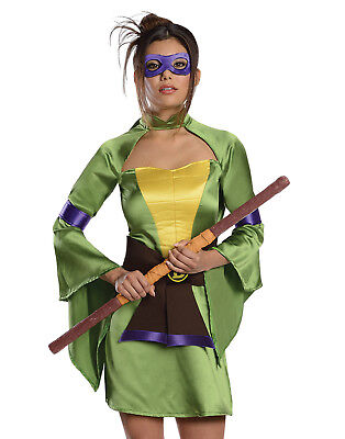 Mutant Kostüme (Teenage Mutant Ninja Turtles Sexy Donatello Damen Halloween Party Kostüm)