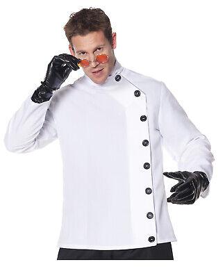 Verrückter Wissenschaftler Herren Adult Laborkittel Halloween Kostüm Shirt-Xxl