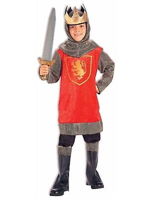 Child King Halloween Costume (Crusader King Boys Child Medieval Soldier Knight Halloween)