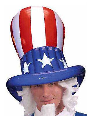 Onkel Sam Herren Erwachsene Vierte Juli Patriotisch Kostüm Aufblasbar Hut (Erwachsenen Onkel Sam Erwachsene Kostüme)