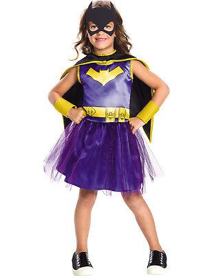 Comic Kostüm Mädchen (Dc Comics Mädchen Batgirl Superheld Kinder Halloween Kostüm)
