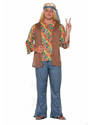 Hippie Dude Mens Adult Groovy 70S Free Spirt Halloween Costume-Std - Halloween Costumes Spirt