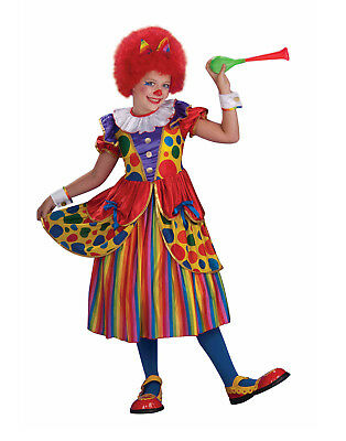 Cute Clown Halloween Costumes (Clown Princess Girls Child Cute Circus Performer Halloween)