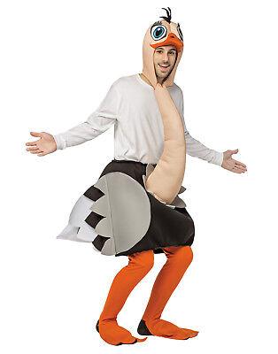 Struzzo Adulto Animale Uccello Selvatico Intero Halloween Costume-Os
