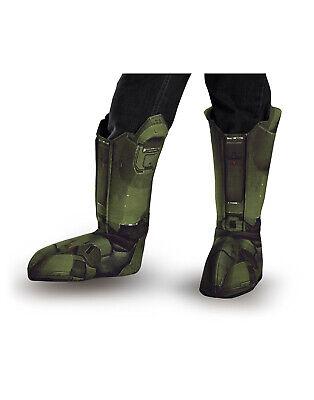 Master Chief Halo Spartan Soldat Kinder Stiefel Abdeckung Kostüm - Halo Soldaten Kostüm