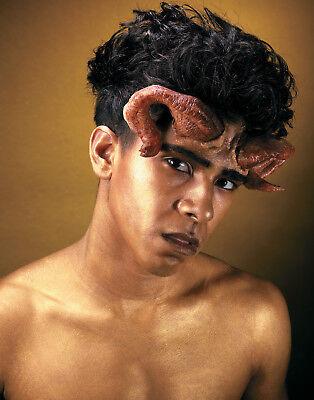 Reel F/X Goat Demon Devil Prosthetic Latex Ram Horns Makeup Kit](Mens Devil Makeup)