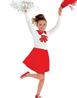 Rydell Cheerleader Girls Child Grease Movie Halloween Costume Dress-Child Medium - Kids Cheerleader Halloween Costume