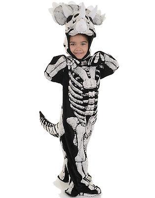 Triceratops Fossil Kleinkinder Kinder Extinct Dead Dinosaurier Halloween Kostüm ()