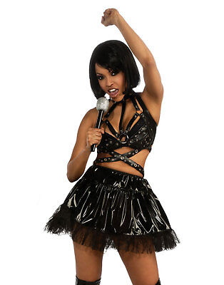 Historical Hotties Rihanna Black Outfit Adult Womens Halloween Costume
