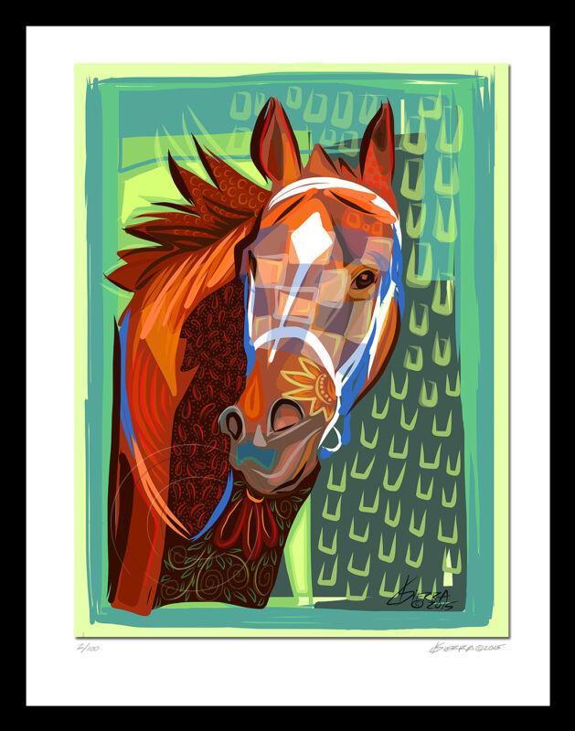 Secretariat Triple Crown Horse Racing LTD Art Print Signed Equine SFASTUDIO