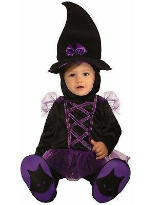 Kiddie Witch Infant Cute Purple Sorceress Halloween Costume](Cute Horror Halloween Costumes)