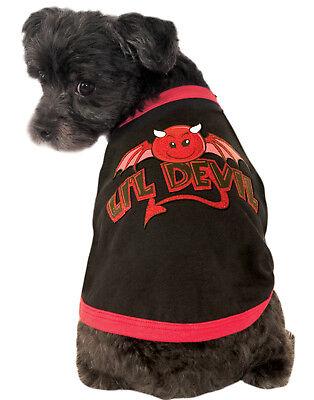 Little Devil Pet Dog Cat Black Red Costume Ringer Tee T-Shirt - Devil Cat Costume