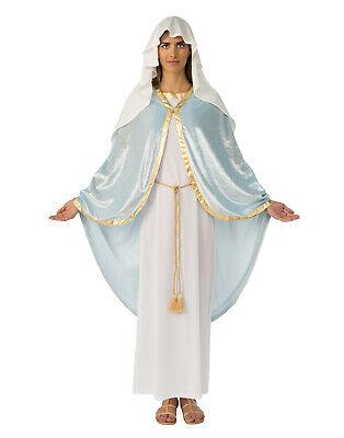 Die Jungfrau Maria Damen Erwachsene Holy Mother Religiös Krippe Kostüm