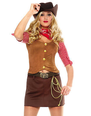 Sexy Wild West Western Rodeo Cowgirl Country Gun Slinger Halloween Costume - Country Western Costumes