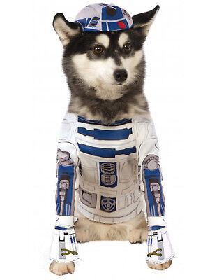 Lizenziert Star Wars Haustier-Kostüm R2-D2 Hund/Katze Langarm & Hut Kostüm