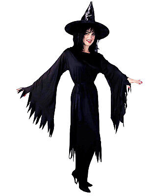 Wicked Witch Adult Womens Black Sorceress Halloween Costume-Std - Halloween Sorceress Costume
