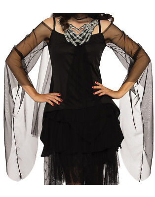 Skeletons Embrace Women Grim Reaper Gothic Witch Costume Top Shirt-One Size (Grim Reaper Costume For Women)