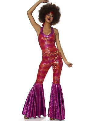 70'S Foxy Lady Hippie Mod Fancy Dress Hens Party Womens Halloween Costume