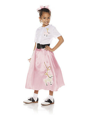 Poodle Skirt Costumes For Girls (Poodle Skirt Girls Child 50S Dance Halloween Costume)