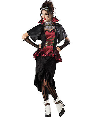 Edwardian Halloween Costume (Steampunk Vampiress Victorian Gothic Womens Edwardian Halloween)