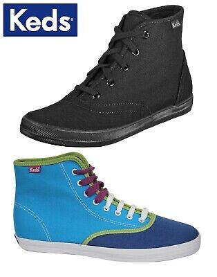 Keds Chukka (Keds Champion Chukka WF32657 Black / ColourBlock WF34237 Canvas Boot Hi-Tops)