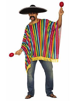 Serape Mens Adult Spanish Mexican Halloween Costume Accessory-Std (Serape Costume)