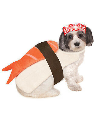 Sushi Lachs Garnele Haustier Hund Katze Japanisch Futter Halloween (Sushi Halloween Kostüm)