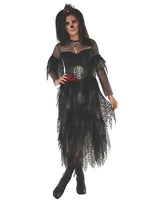 Lady Ghoul Womens Adult Black Ghost Witch Halloween - Ghostly Lady Costume