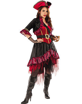 Lady Buccaneer Adult Women Pirate Buccaneer Halloween Costume-Std