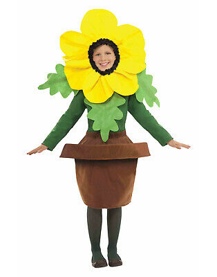 Sunny Blossom Girls Child Sun Flower Pot Halloween Costume