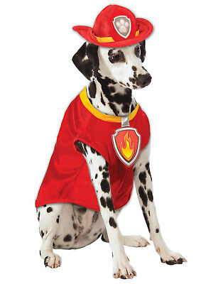 Paw Patrol Marshall Fire Medic Pup Dog Pet Halloween Costume ()