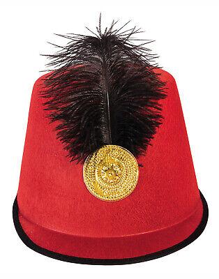 Soldaten Rot Herren Erwachsene Militär Feder Halloween Kostüm Hut