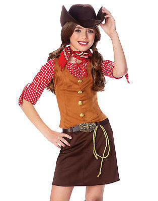 Gunslinger Girl Costume (Gun Slinger Girls Cowgirl Fancy Dress Indians And Cowboys Halloween)