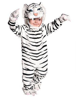 White Snow Tiger Plush Baby Boys Toddler Animal Halloween Party Costume](Tiger Halloween Costume Baby)
